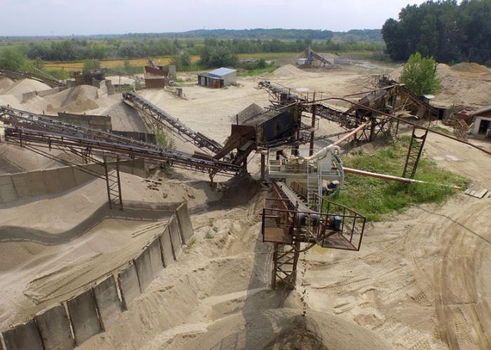 Balastiera Udeni, statia de sortare agregate minerale naturale